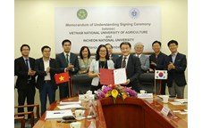 Vietnam National University of Agriculture and Incheon National University Korea cooperated for development