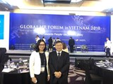 President Nguyen Thi Lan attended the Global HR Forum in Vietnam 2018 and met Korean Deputy Minister of Education and Training